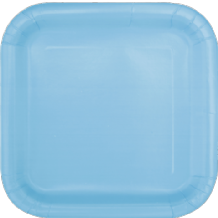 "Square Powder Blue Plates - 9"" Square Plates (14pcs)"